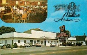 Roanoke Virginia Archie's Lobster House Autos Washington News Postcard 2-5131