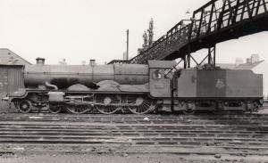 LNWR 4-4-0 Number 639 Ajax Train at Crewe Station Vintage Railway Photo