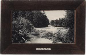 1901-1915 Scranton PA In Nay Aug Park Lackawanna Wood Frame RARE DB Postcard