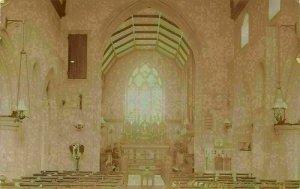 Stanford Essex Church Interior Postcard