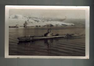 Mint WW 2 Germany RPPC Postcard U Boat 404 Submarine Entering Port