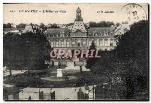 Old Postcard Le Havre L & # 39Hotel Town and garden