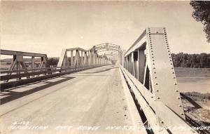 D89/ Juncton City Kansas Real Photo RPPC Postcard c40s Republican River Bridge