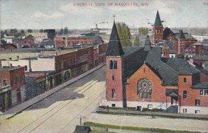 Wisconsin Marinette Birdseye View Of City