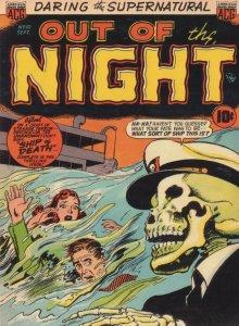Skeleton Sea Captain Zombie Ship Of Death 1950s Comic Book Postcard