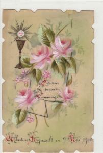 Souvenir de premiere Communion Albertine Regnault embossed 1900