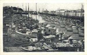 San Francisco CA USA Fishermans Wharf Ship Postcard Postcards  San Francisco ...