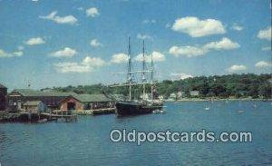 Mystic Seaport, Mystic Connecticut, CT USA Sail Boat Postcard Post Card Unused