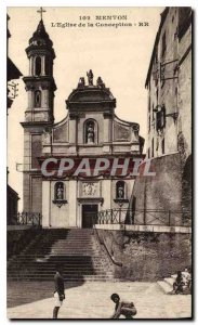 Old Postcard Menton The Church of the Conception