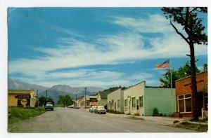 Postcard Rye Colorado Main Street Business Section Standard View Card