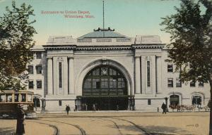WINNIPEG , Manitoba, Canada , 1900-10s ; Entrance to Union Depot