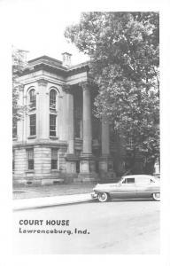 Lawrenceburg Indiana Court House Real Photo Vintage Postcard K100071