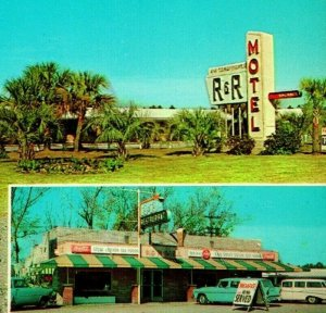 Nahunta Georgia GA R & R Motel Multiview Cars Sign UNP Vtg Chrome Postcard