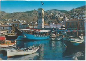 HYDRA, Partial View, Greece, unused Postcard