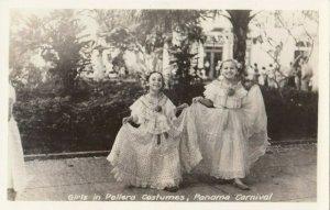 RP: Girls in Pollera Costumes , Panama Carnival , 1930s