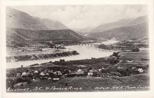 RP, Panorama, Fraser River, Lillodet, British Columbia, Canada, 1920-40s