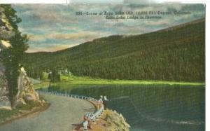Scene at Echo Lake, Denver, Colorado, 1920s-1930s unused ...