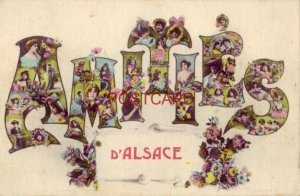 AMITIES d'ALSACE - pretty woman in the letters of amities