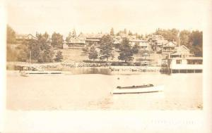Bayville Maine Waterfront View Of Residents Real Photo Antique Postcard K11893