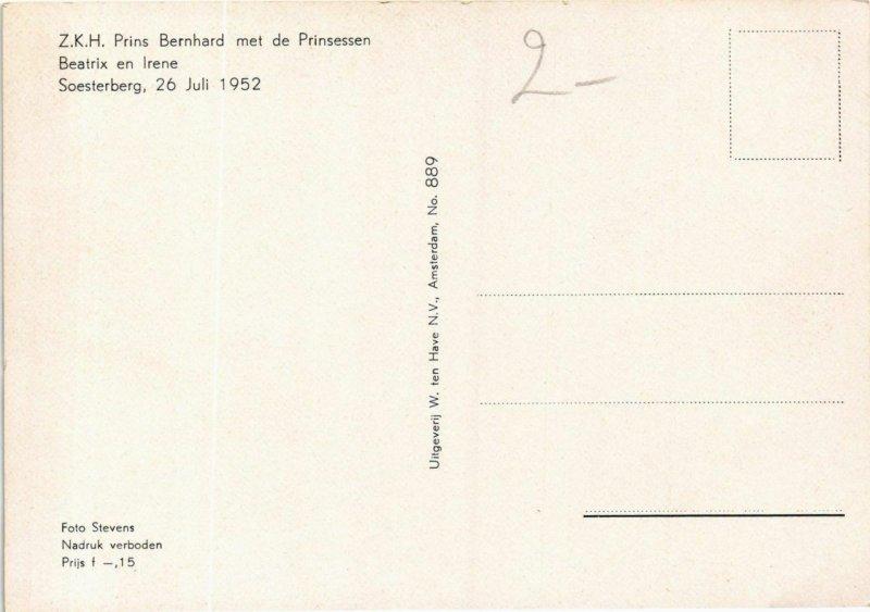 CPA AK Z.K.H. Prins Bernhard Prinsessen Beatrix&Irene DUTCH ROYALTY (791149)