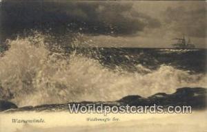 Warnemunde Germany, Deutschland Postcard Wildbewegte See  Wildbewegte See