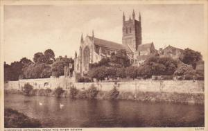 England Worcester Cathedral From The River Severn