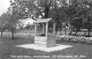 Ft Fort Atkinson Iowa~State Park~The Old Well~Handle~Rock Wall~1950s RPPC
