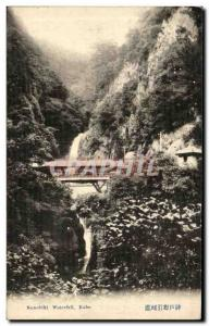Postcard Old Nunobiki Waterfall Kobe Japan