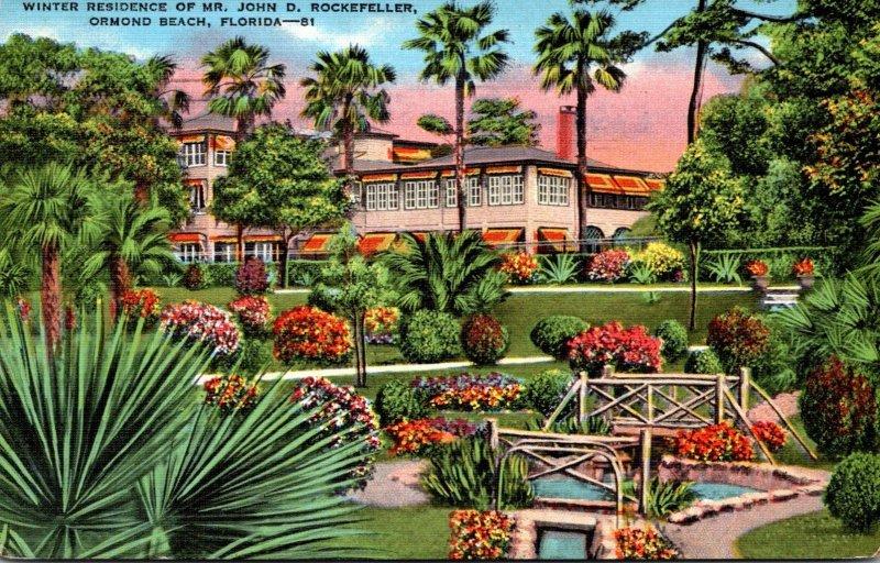 Florida Ormond Beach Winter Residence Of Mr John D Rockefeller 1937