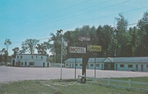 BARRIE , Ontario , 1950-60s , Lor-Lee Motel & TEXACO Service Station