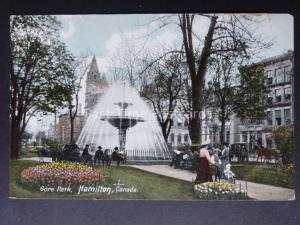 Canada: Hamilton, Gore Park showing Fountain - Old Postcard by Stedman Brothers