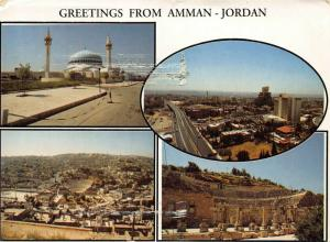 Jordan Greetings from Amman postcard