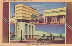 Calfornia Hollywood Radio City The New Studios Of CBS And NBC