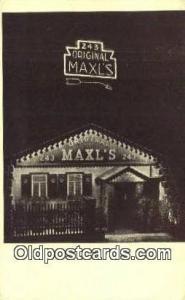Original Maxl's Restaurant, New York City, NYC Postcard Post Card USA Ol...