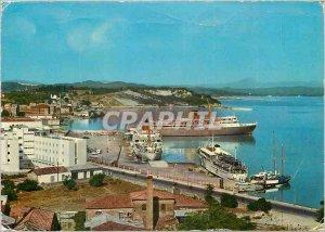 Postcard Modern Corfu Il Nuovo Porto Kepkypa to Neo Aimani Charter