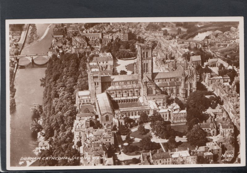 Co Durham Postcard - Aerial View of Durham Cathedral  HM415