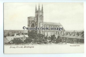 cu2513 - The Priory Church in Bridlington - postcard
