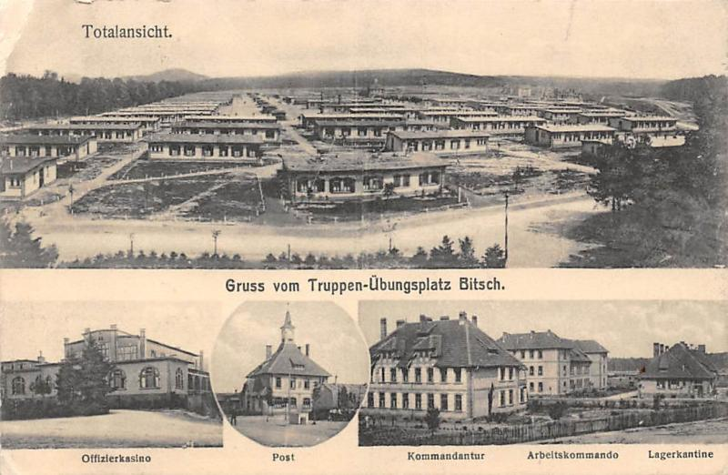 France Bitche Truppen-Uebungsplatz Bitsch Totalansicht Post Multiviews CPA 1912