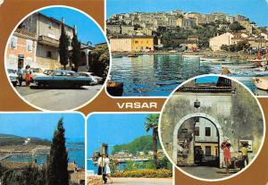 Croatia Vrsar Harbour Boats Port Promenade Auto Vintage Cars Street 1985