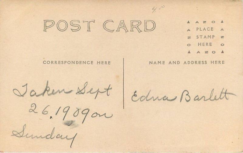 Real Photo Postcard~On Sunday Sept 26th, 1909, These Men & Women Swap Hats~As Is
