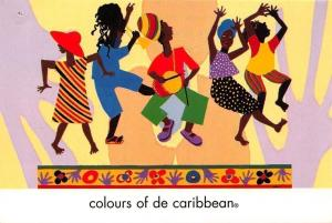Colours of De Caribbean, People Dancing Postcard