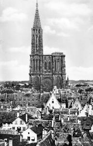 France Strassburg Das Muenster Cathedrale Notre Dame de Strasbourg echt foto