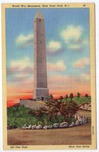 High Point Park, N.J., World War Monument