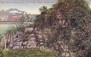 Illinois Rock Island Arsenal Old Stone Abutment Of Old Bridge 1909