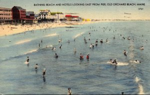 Maine Old Orchard Beach Bathing Beach and Hotels Looking East From Pier 1945