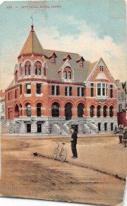 H83/ Boise Idaho Postcard c1910 City Hall Building  66