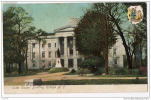 North Carolina Raleigh - State Capitol Building - Early 1900´s udb