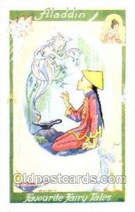 Children Nursery Postcard Postcards Aladdin Unused