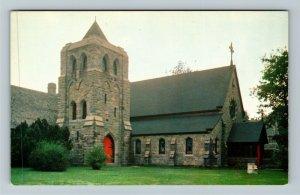 Narragansett RI-Rhode Island, St Peter's By The Sea Church, Chrome Postcard