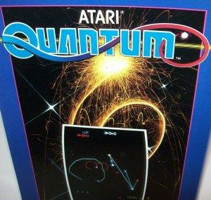 Quantum Arcade FLYER 1982 Original Atari Vintage Video Game Space Age Art Sheet